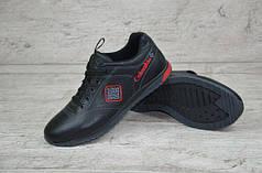 Мужские кожаные кроссовки Columbia черно - красные топ реплика