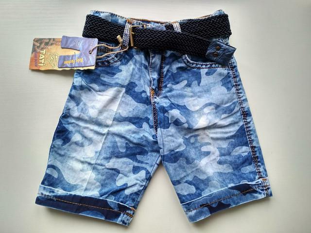 Модные джинсовые шорты на мальчика 3, 4, 5, 6, 7 лет