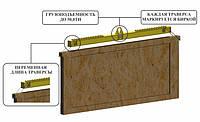 Траверса Линейная для Ящиков со Стеклом тип 15