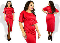 Платье из французского трикотажа. Большие размеры. Разные цвета.