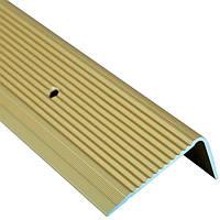 Профиль алюминиевый лестничный 45х20 мм 2.7 м золотой