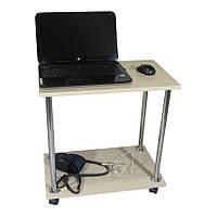 """Прикроватный журнальный столик """"Loco"""" для ноутбука или завтрака, на роликах (придиванный)"""
