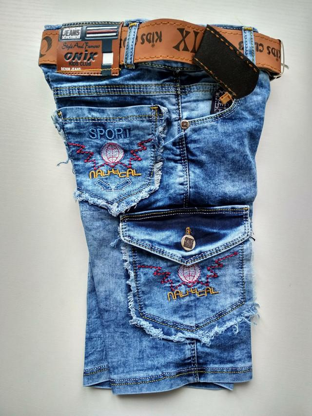 Крутые джинсовые шорты на мальчика
