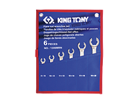 Набор ключей разрезные 6шт. 8-22 мм King Tony 1306MRN