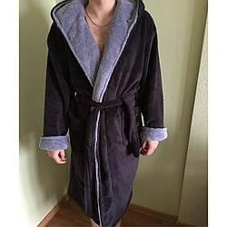 Мужской махровый халат с капюшоном Sport