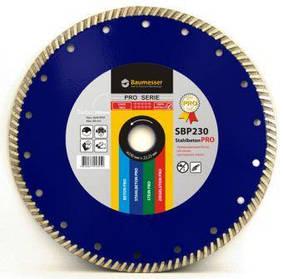 Алмазний відрізний диск Baumesser 230x2,6x9x22,23 Turbo Stahlbeton PRO