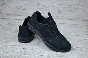 Мужские кроссовки Ecco черные топ реплика, фото 2