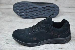 Мужские кроссовки Ecco черные топ реплика, фото 3