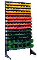 Стеллаж металлический с пластиковыми ящиками 1.8 м