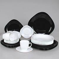 """Сервиз столовый стекло 30 предм. """"Luminarc.Carine Black & White"""" D2382 / 95283"""