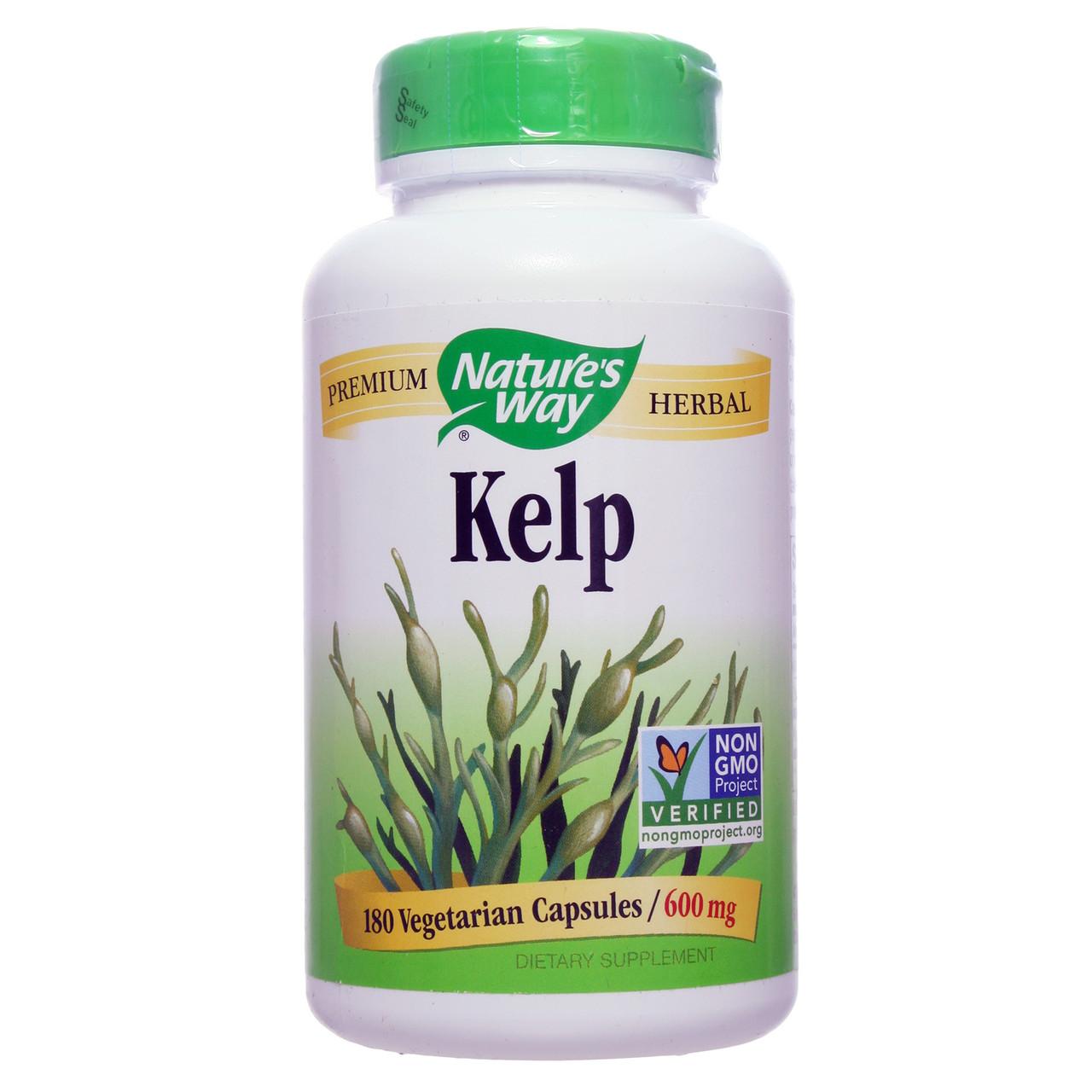 Ламинария, Nature's Way, 600 мг, 180 капсул