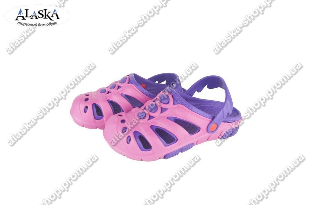 Детские кроксы (Код: Дет сабо сирень-фиолет)