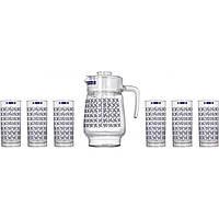 "Набор для напитков кувшин 1,6л + 6 стаканов 270 мл ""Luminarc.Aldwin"" 04101 / L2418 / 0800"