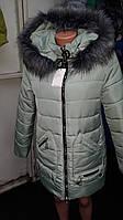 Женская куртка зимняя в расцветке