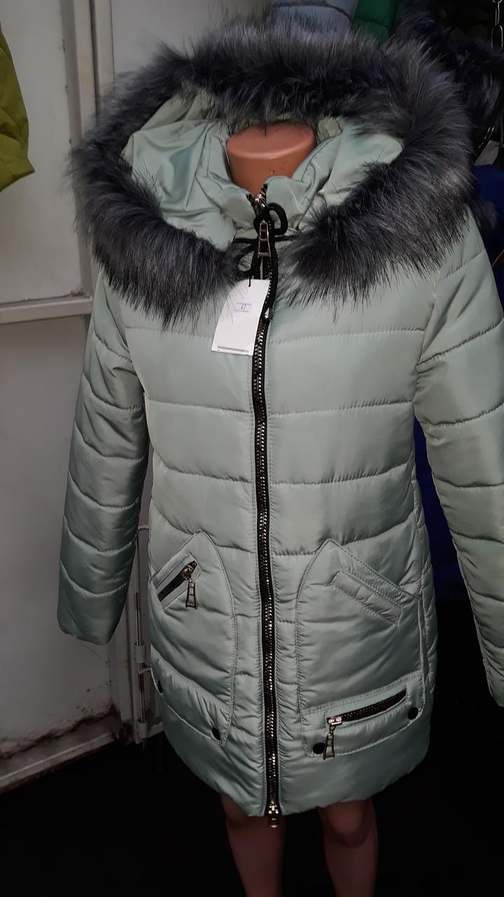 Женская куртка зимняя в расцветке, фото 1