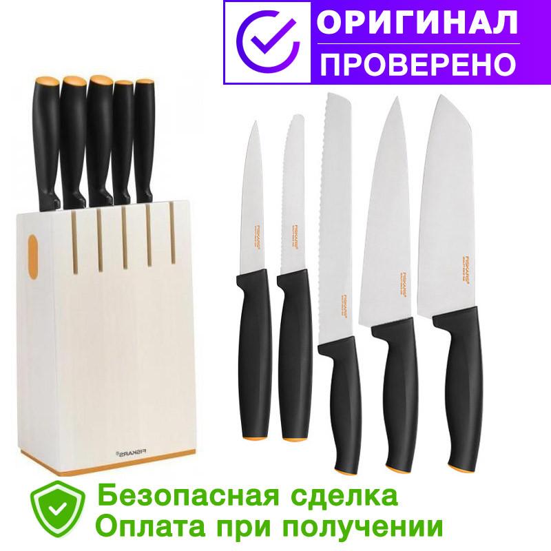 Набор кухонных ножей Fiskars FF (5 шт) (102639/1014209)