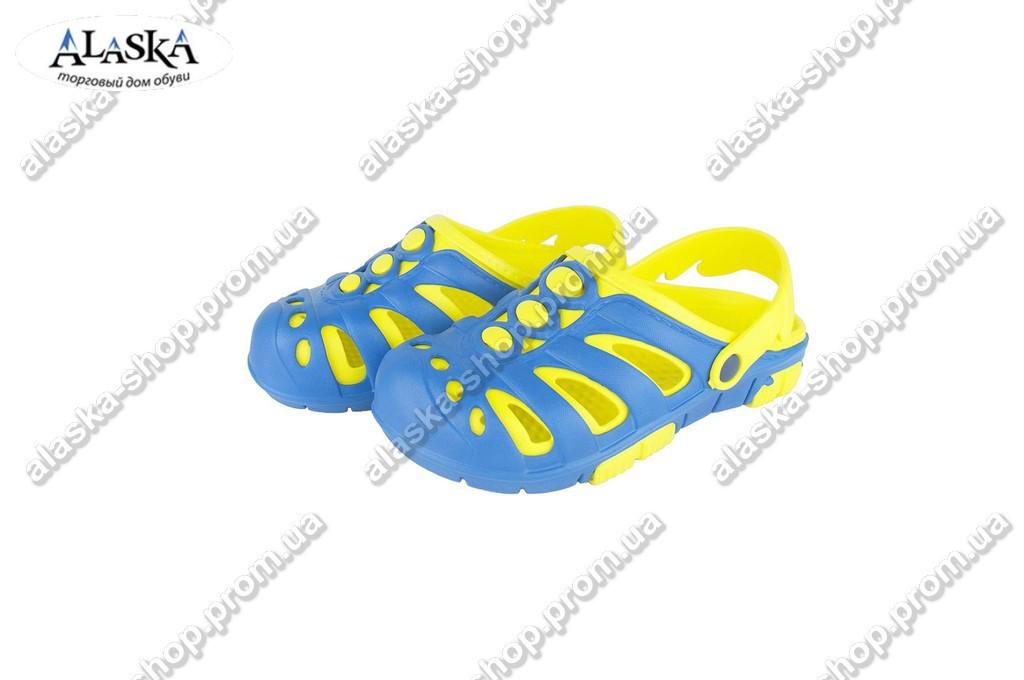Детские кроксы (Код: Дет сабо синий желтый)