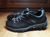 Мужские кожаные кроссовки черного цвета VIOLES K1  размерный ряд 40-45