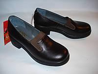 Кожаные туфли на каблуке 37 размера 24 см стелька - Распродажа фабричной обуви