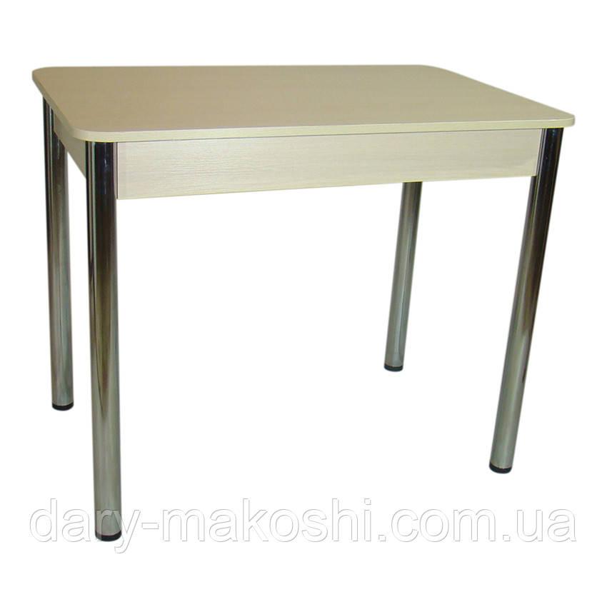 Стол Классик с металлическими хромированными ногами 93 см х 60см х 76 см