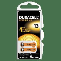 Батарейки Duracell 13 PR48 Hearing Aid 1.45V 6шт Double Blister