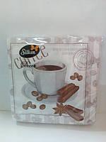 """Салфетка Silken 3-слойная """"Кофе Тайм"""" с печатью 20шт 33*33см"""