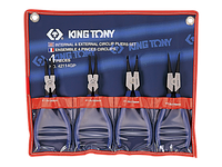 Набор съемников стопорных колец 4пр. King Tony 42114GP