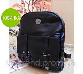 Рюкзак женский черный из кожзама