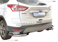 Защитные углы двойные для Ford Kuga 2013-2016 от ИМ Автообвес (п.к. АК3)
