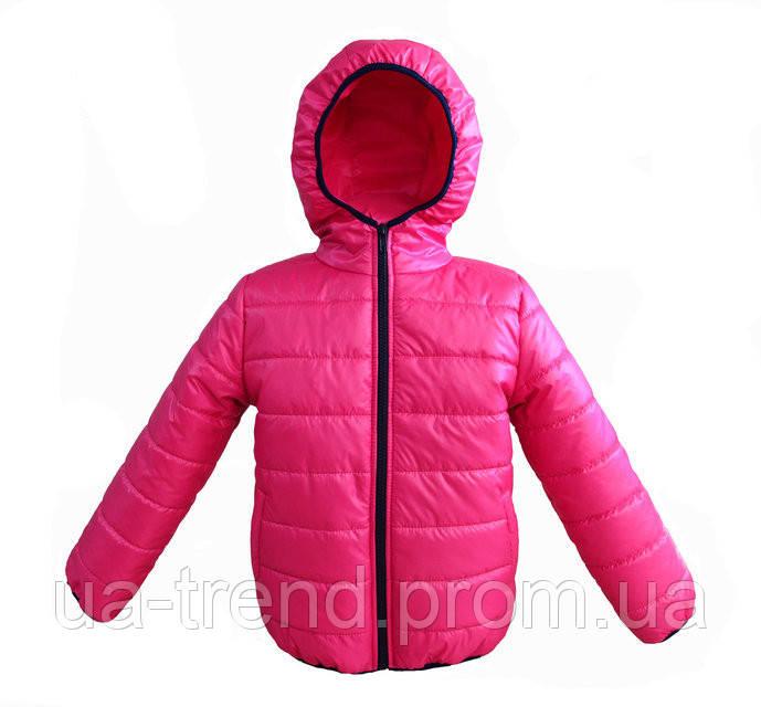 Тепла демісезонна куртка на дівчинку кольору малини
