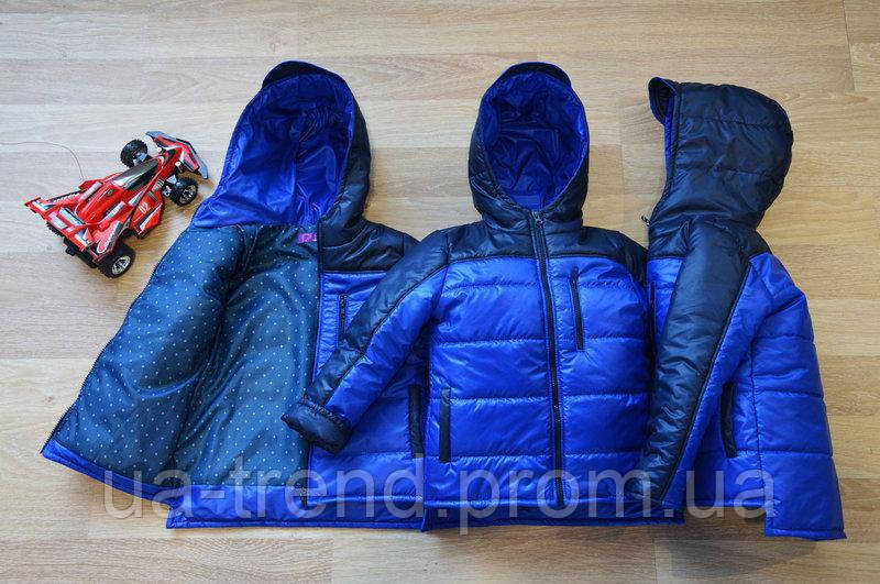 Курточка детская демисезонная для мальчика 98-116