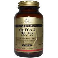 Омега-3, 950 мг, EPA & DHA, 50 м'яких гелів