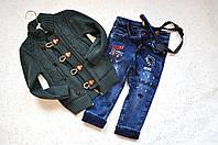 Комплект на мальчика: кофта + джинсы, 2-3 года.