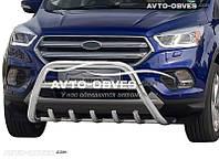 Защитный обвес переднего бампера на Ford Kuga 2017-...