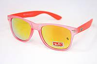 Яркие очки RB Зеркальные коралловые