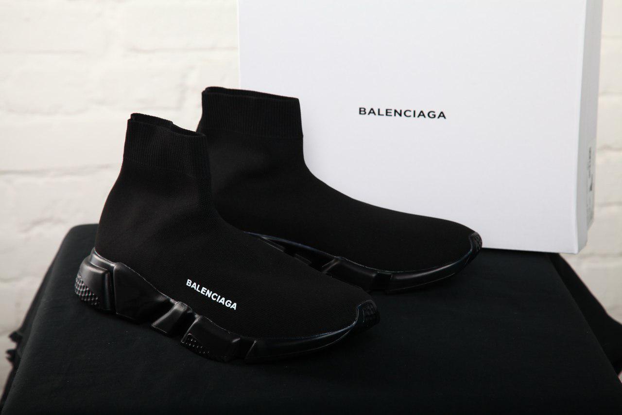 Мужские кроссовки Balenciaga Black Speed Trainers, Неопрен