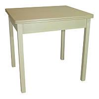 Стол обеденый раскладной Гранди 70 см х 80 см (140х80) с деревянными ножками прямыми., фото 1