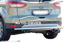 Защита заднего бампера Форд Куга 2017-... (п.к. AK)