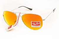 Солнцезащитные очки Авиатор RayBan оранжевые