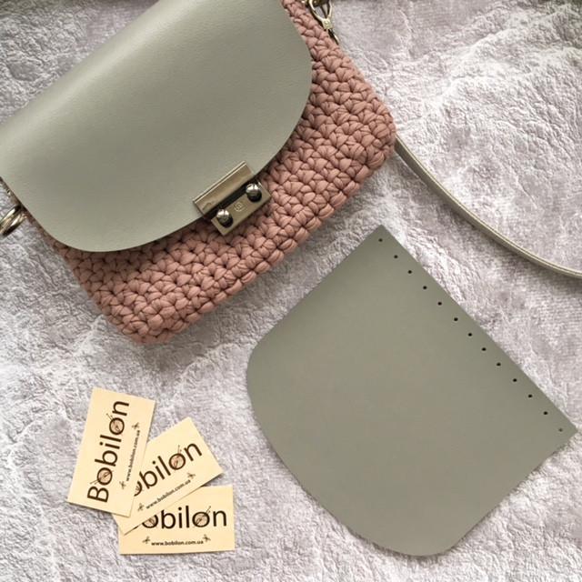 Крышка для сумки из эко кожи 21х18 см