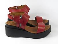 Кожаные стильные босоножки , фото 1
