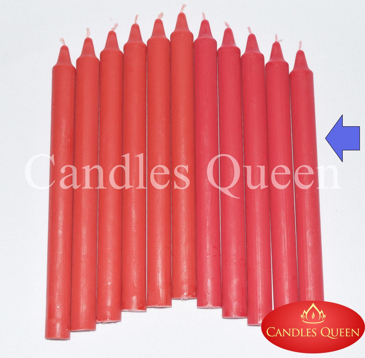 Свеча столовая красная 240х20 мм 30 шт