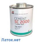 Цемент SC-2000 1кг черный + отвердитель Tip top Германия