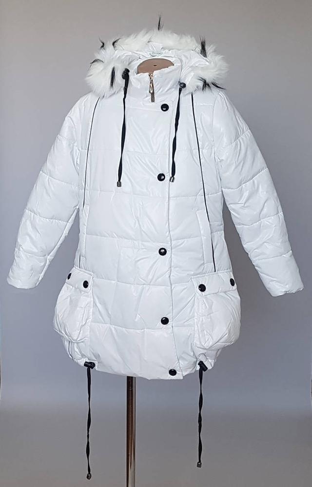 куртка зимняя для девочек белого цвета