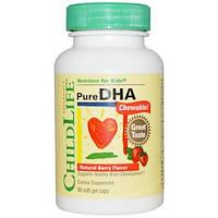 ChildLife, Чистая ДГК, жевательная, с натуральным ягодным вкусом, 90 мягких капсул