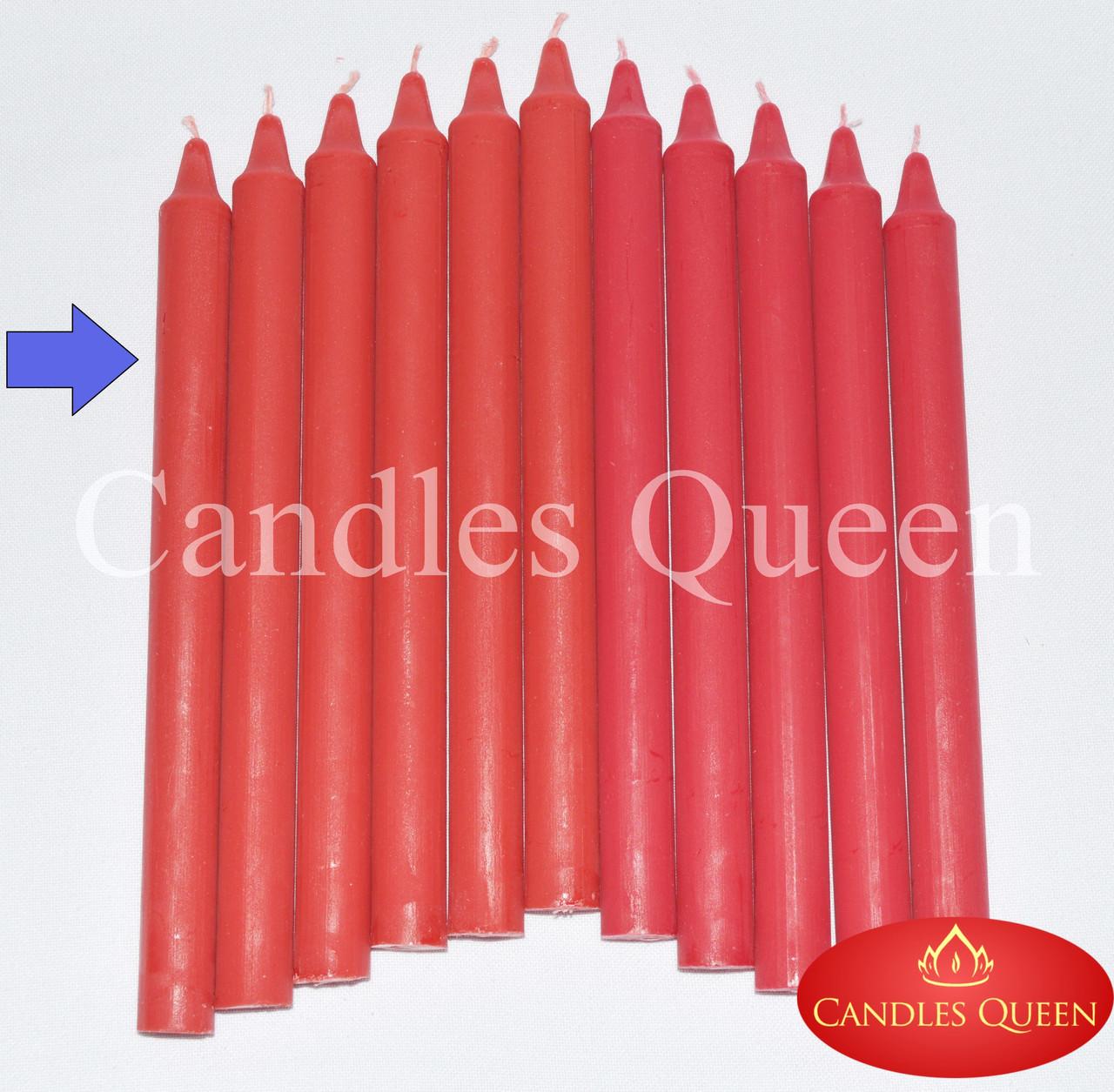 Свеча столовая красная (алый) 240х20 мм 30 шт