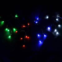 """Гирлянда """"Дождик"""" 320LED черный провод RGB (Арт. 320 SHORT CURTAIN-7M-M)"""