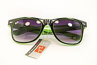 Очки wayfarer черный+зеленый