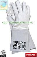 Краги сварщика рабочие длинные REIS Польша (перчатки кожаные) RSPL2XLUX WJS
