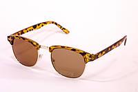 Очки Clubmaster леопардовые